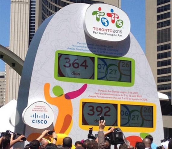 Toronto inaugurará el reloj oficial de la cuenta regresiva para los Juegos 2015