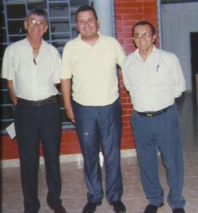 Presidente saliente Ing. José Galeano, Presidente CPDP Héctor Agüero y el electo Presidente Hemilio Rodríguez