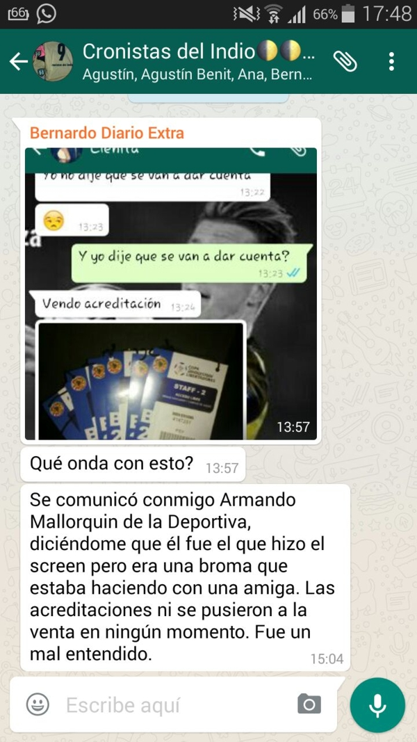 VENTA DE ACREDITACION DE ARMANDO MALLORQUIN