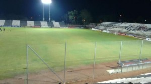 Estadio de Santaní prueba luminica