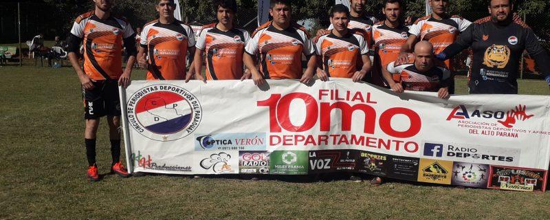 Filial 10.° Departamento ganó torneo de periodistas deportivos